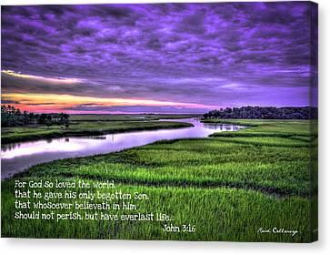 Sunset Over Turner Creek John 3 Canvas Print by Reid Callaway