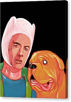Turnery And Hooch Meets Adventure Time  Canvas Print by Jason  Wright