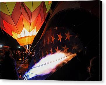 Turning On The Heat Canvas Print by Donna Kennedy