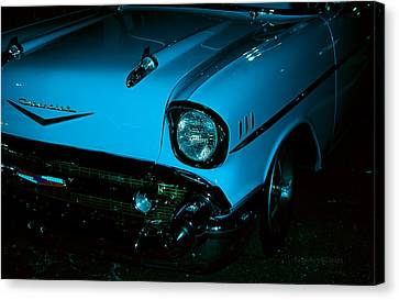 Turquoise Chevy Canvas Print by DigiArt Diaries by Vicky B Fuller