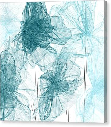 Turquoise In Sync Canvas Print by Lourry Legarde