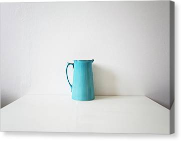 Turquoise Jug Canvas Print by Mary Gaudin