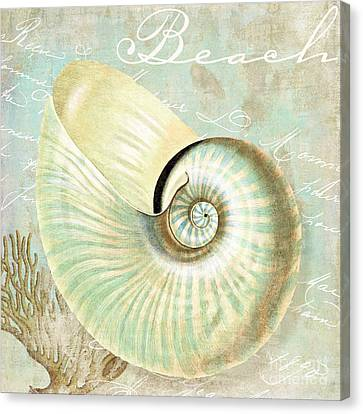 Turquoise Sea Nautilus Canvas Print by Mindy Sommers