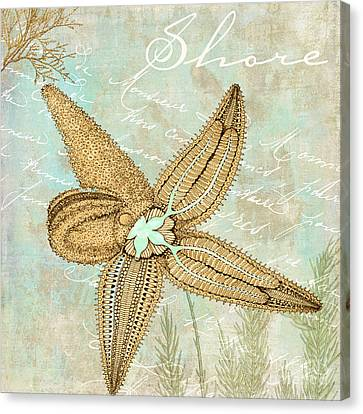 Turquoise Sea Starfish Canvas Print by Mindy Sommers