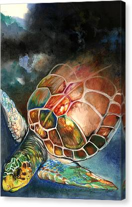 Turtle Canvas Print by Anthony Burks Sr