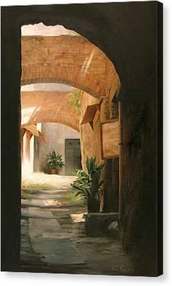 Tuscan Arches Canvas Print by Anna Rose Bain