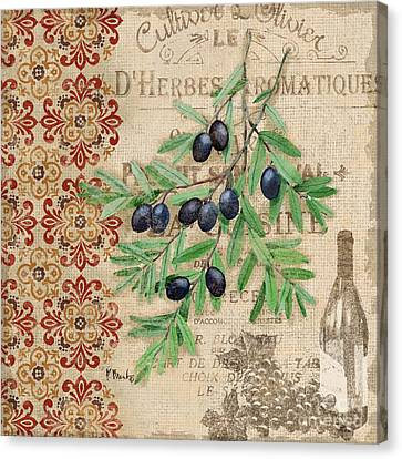 Tuscan Black Olives Canvas Print by Paul Brent