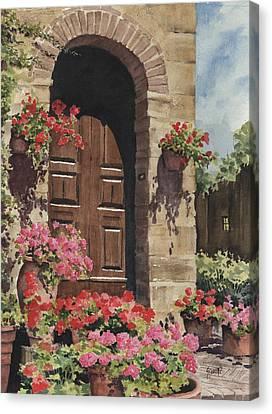 Tuscan Door Canvas Print by Sam Sidders