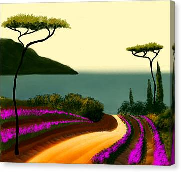 Tuscan Fields Of Beauty Canvas Print by Larry Cirigliano
