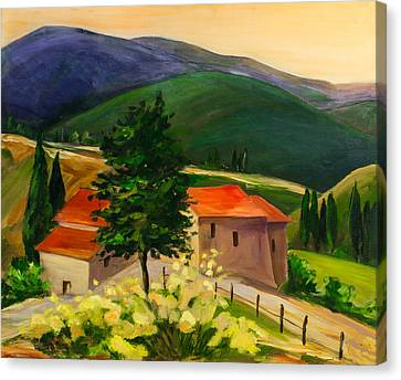 Tuscan Hills Canvas Print by Elise Palmigiani