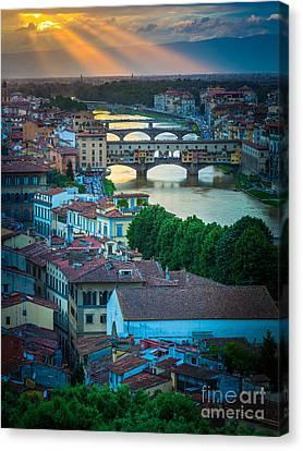Tuscan Sunbeams Canvas Print by Inge Johnsson