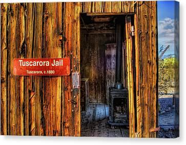 Tuscarora Jail Canvas Print by Stephen Campbell