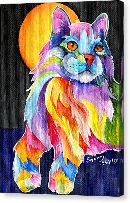 Tutti Fruiti Kitty Canvas Print by Sherry Shipley