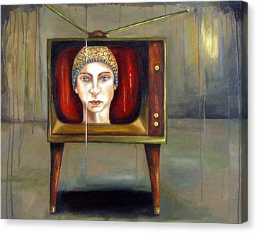 Tv Series 1 Canvas Print by Leah Saulnier The Painting Maniac