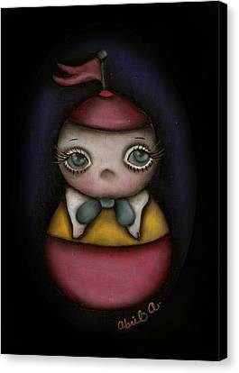 Tweedle Dum Canvas Print by  Abril Andrade Griffith