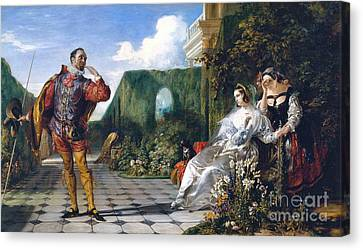 Twelfth Night Canvas Print by Daniel Maclise
