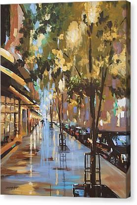 Twenty One East Hubbard Street Chicago Canvas Print by Sandra Strohschein