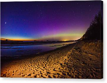 Twilight Auroras Canvas Print by Jackie Novak