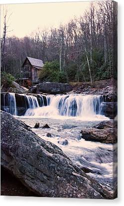 Twilight Image Of Glade Creek Grist Mill Canvas Print by Chris Flees