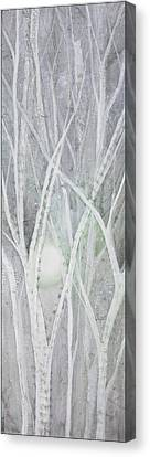 Twilight In Gray II Canvas Print by Shadia Zayed