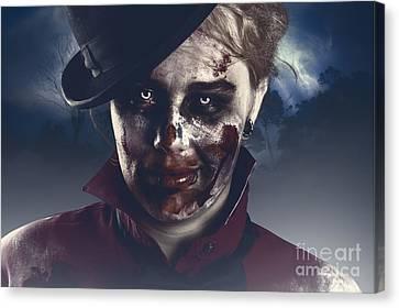 Twilight Nightmare. Possessed Halloween Girl Canvas Print by Jorgo Photography - Wall Art Gallery
