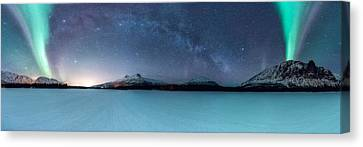 Twin Eruption Canvas Print by Tor-Ivar Naess