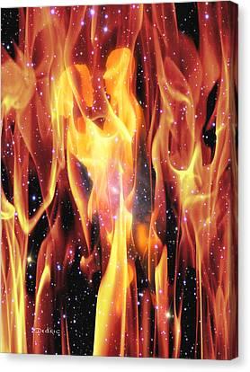 Twin Flames Canvas Print by Dedric Artlove