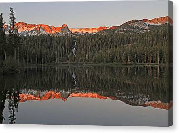 Twin Lakes Sunrise Canvas Print by Donna Kennedy