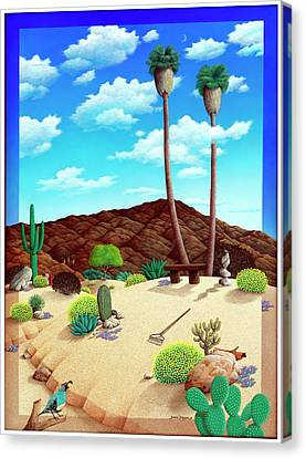 Twin Palms  Canvas Print by Snake Jagger