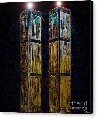 Twin Towers Of Freedom Canvas Print by David Lee Thompson