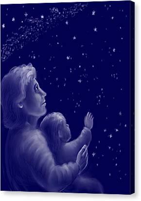 Twinkle Twinkle Little Star Canvas Print by Dawn Senior-Trask
