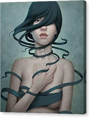 Twisted Canvas Print by Diego Fernandez