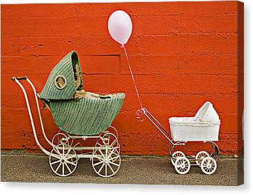 Two Baby Buggies  Canvas Print by Garry Gay