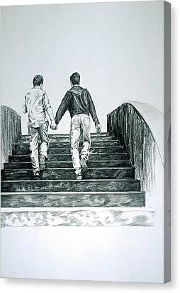 Two Boys Canvas Print by Rene Capone