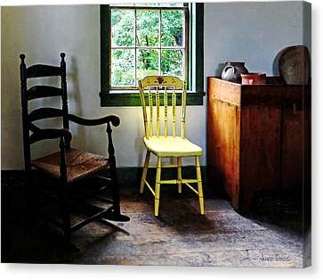 Two Chairs In Kitchen Canvas Print by Susan Savad