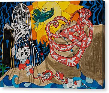 Two Creation Stories Canvas Print by Eliza Furmansky