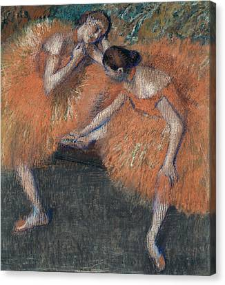 Two Dancers Around 1898 Canvas Print by Edgar Degas