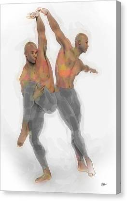 Two Dancers Canvas Print by Quim Abella