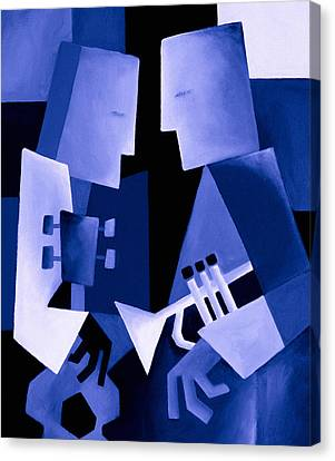Two For The Blues Canvas Print by Thomas Andersen