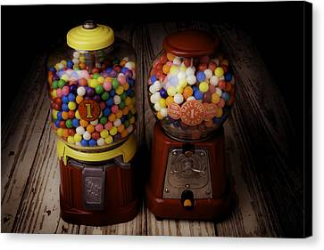 Two Gumball Machines Canvas Print by Garry Gay