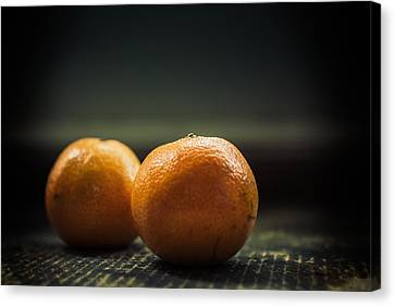 Two Oranges Canvas Print by Yo Pedro