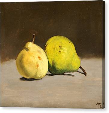 Two Pears Canvas Print by Edouard Manet