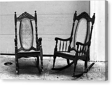 Two Rocking Chairs Canvas Print by John Rizzuto
