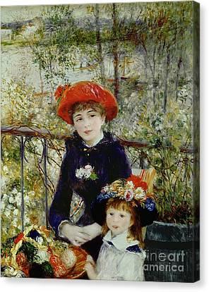 Two Sisters Canvas Print by Pierre Auguste Renoir