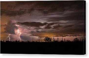 Two Strikes Over Phoenix Canvas Print by Ryan Seek