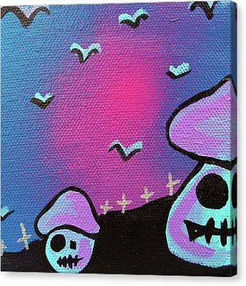 Two Zombie Mushrooms Canvas Print by Jera Sky