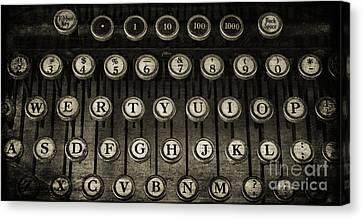 Typewriter Keys 2 Canvas Print by Cindi Ressler