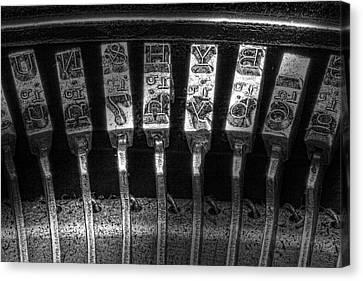 Typewriter Keys Canvas Print by Tom Mc Nemar