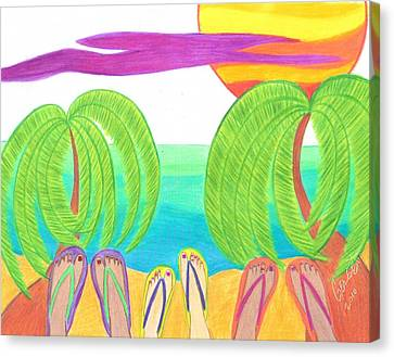 Typical Tropical Day Canvas Print by Geree McDermott