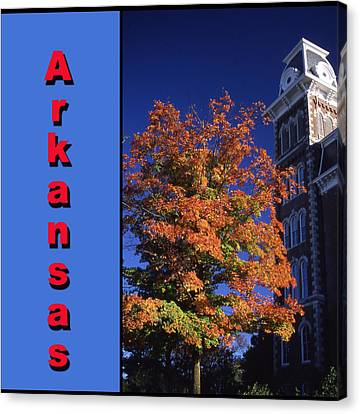 U Of A Old Main Canvas Print by Curtis J Neeley Jr